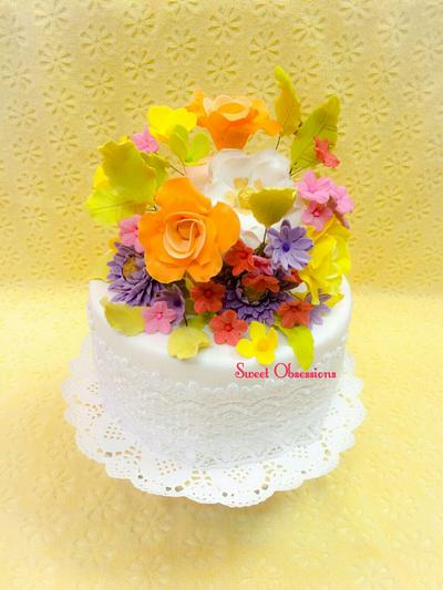 Floral Fantasy - Cake by Sweet Obsessions by Tanya Mehta