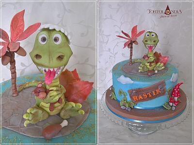 Cute dinosaur - Cake by Tortolandia