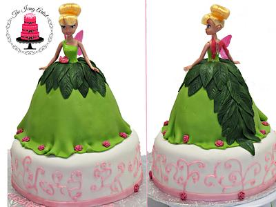 Tinkerbell Barbie Doll Dress Cake - Cake by The Icing Artist