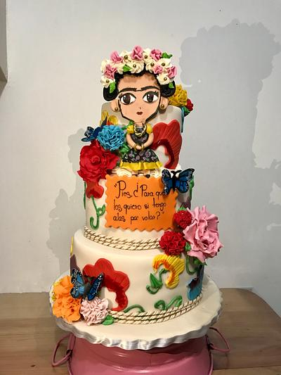 Frida Kahlo cake - Cake by Dulcemantequilla