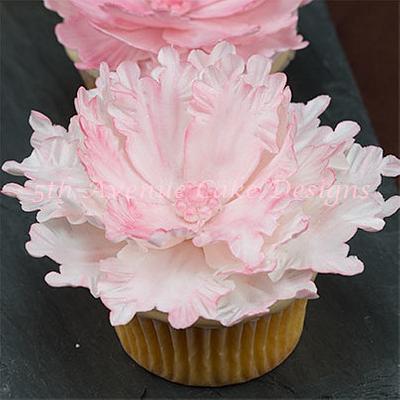 Peony Cupcake Fun - Cake by Bobbie