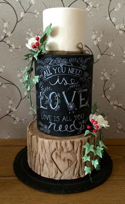 Rustic wedding cake - Cake by Daisychain's Cakes