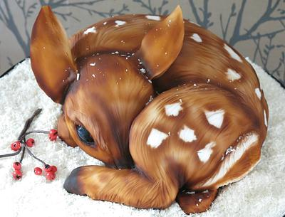 Fifi the Fawn Christmas Cake - Cake by Sweet Foxylicious