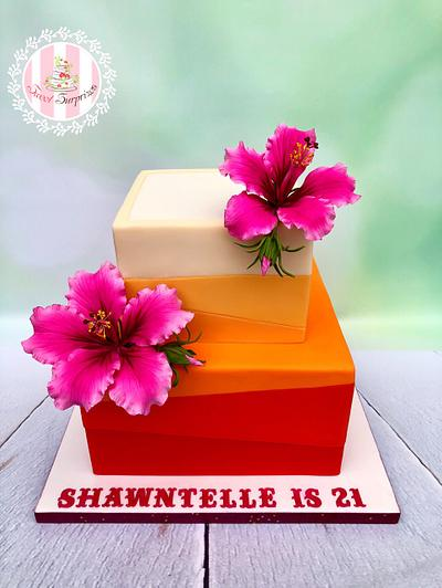 Hibiscus  - Cake by Sweet Surprizes