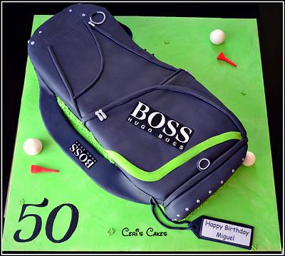 "20"" Golf bag cake - Cake by Ceri's Cakes"