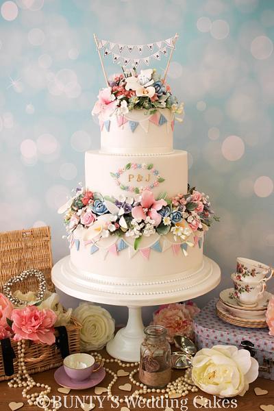 Festival Flowers - Cake by Bunty's Wedding Cakes