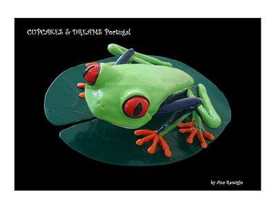 RED EYE FROG - Cake by Ana Remígio - CUPCAKES & DREAMS Portugal