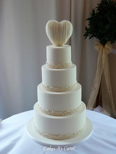 Simple White Wedding Cake - Cake by Carol