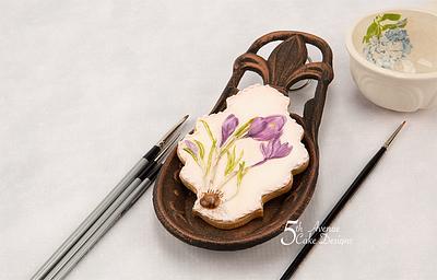 Crocus Flower Cookie for Mom 💐🌱👒 - Cake by Bobbie
