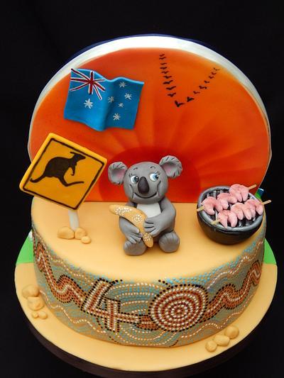 Double Sided Cake Australia/England - Cake by Elizabeth Miles Cake Design