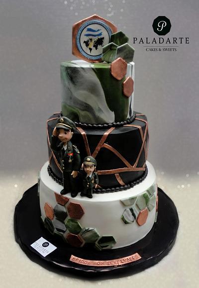 Military father & son  - Cake by Paladarte El Salvador
