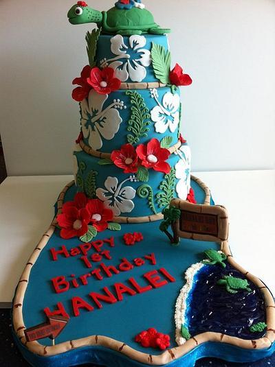 My granddaughter's 1st birthday - Cake by Bonnie Carmine