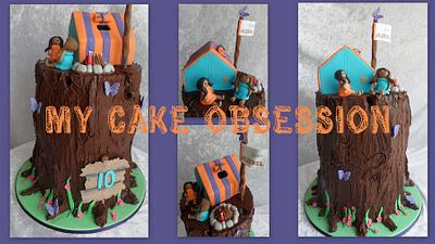 Camping girls cake - Cake by My Cake Obsession
