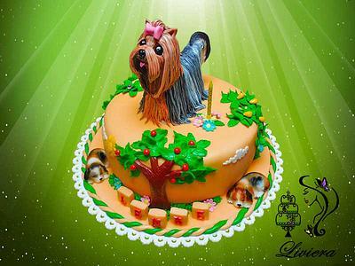 birthday cake - Yorkshire Terrier  - Cake by LiViera