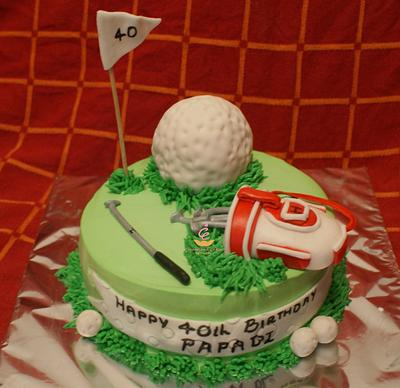 Golf Theme Cake - Cake by Sheeba