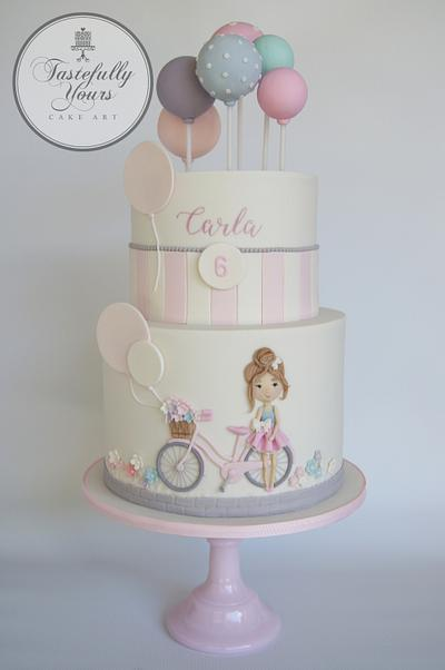 Bicycle Girl - Cake by Marianne: Tastefully Yours Cake Art