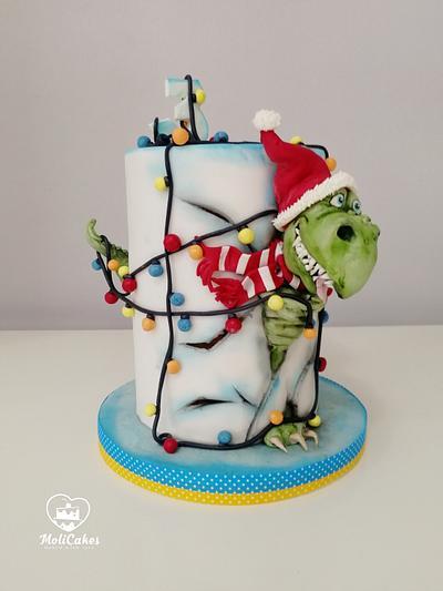 Dino cake  - Cake by MOLI Cakes