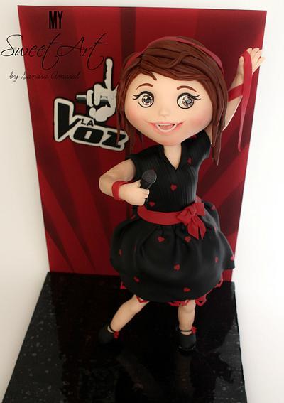 Singing girl Cake - Cake by My Sweet Art