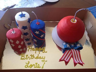 4th of July bday - Cake by Daniele Altimus