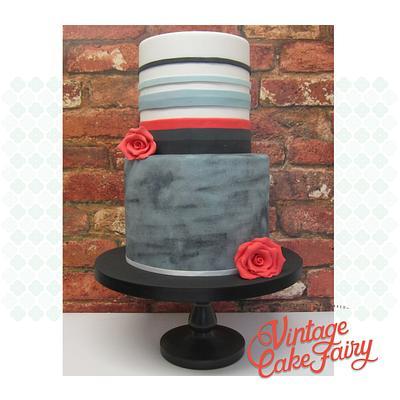 Modern Wedding Cake - Cake by Vintage Cake Fairy