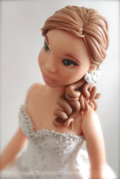 Bride (sugar paste modeling) - Cake by Bolo em Branco [by Margarida Duarte]