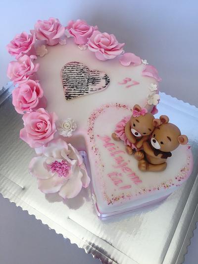 Teddy bears in love  - Cake by Layla A