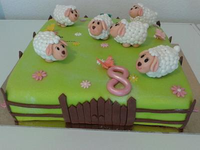 Sheep cake - Cake by Vera Santos