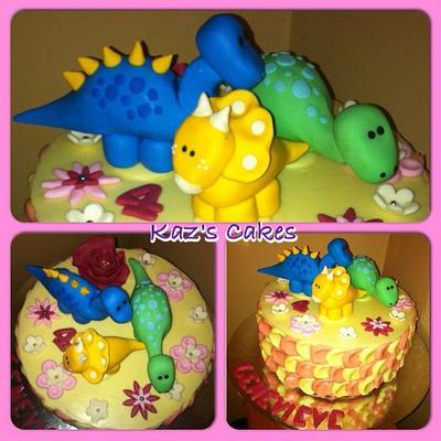 Girly Dinosaur Cake - Cake by Karen