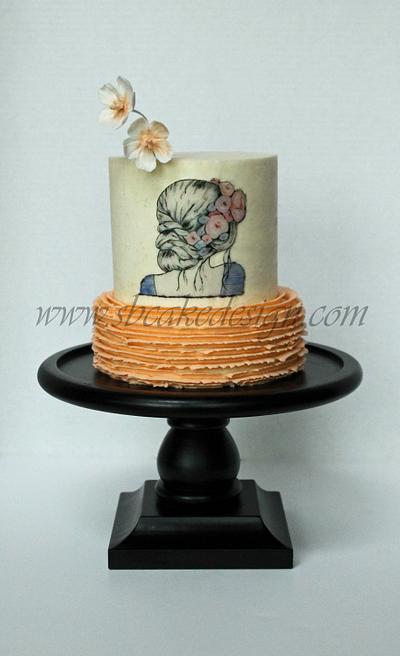 Painted Girl Cake - Cake by Shannon Bond Cake Design