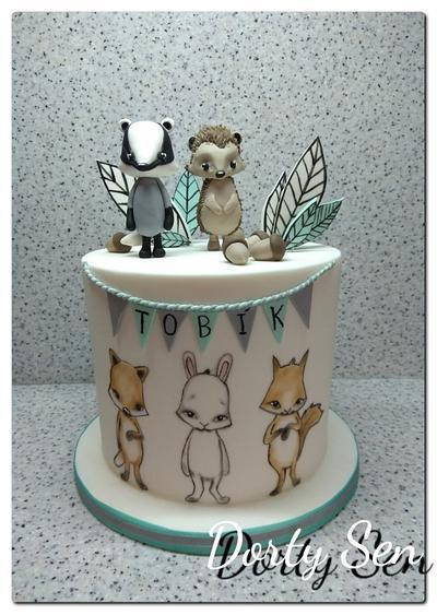 Cute Woodland - Cake by Alena Boháčová - Dorty Sen