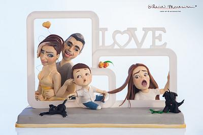 LOVE IS .... MY FAMILY - COLLABORATION  - Cake by Silvia Mancini Cake Art