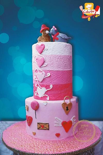 Cakerbuddies Valentine Collab- Shades of Love  - Cake by cakevake07