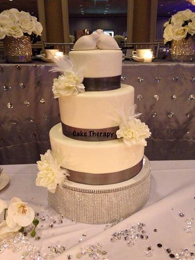 Wedding cake - Cake by Cake Therapy