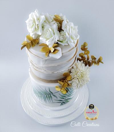 Summer Wedding Cake  - Cake by Calli Creations