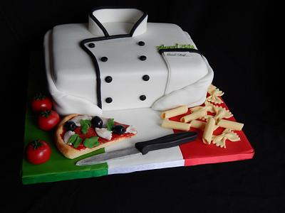 Italian Chefs jacket. - Cake by Elizabeth Miles Cake Design