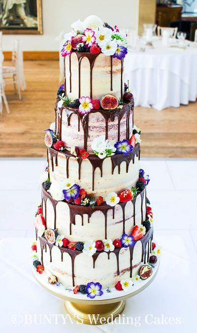Semi Naked Drip Cake - Cake by Bunty's Wedding Cakes
