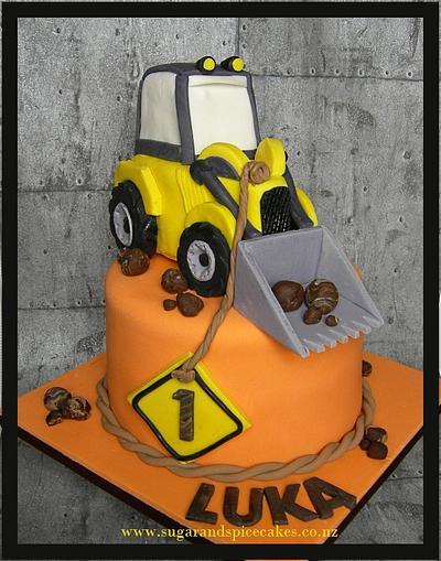 Yellow Digger Cake for Operation Sugar ~ - Cake by Mel_SugarandSpiceCakes