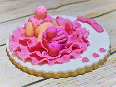 cookies for a newborn baby girl - Cake by SweetTreatsByKate