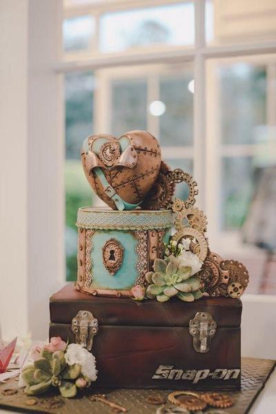Steampunk Wedding - Cake by SugarAllure