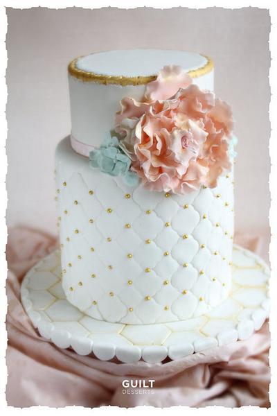 Wedding Bloom Cake - Cake by Guilt Desserts