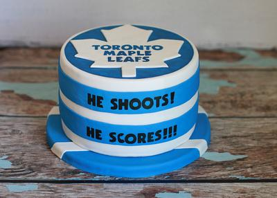 Groom's Hockey Cake - Cake by Sweet and Swanky Cakes ~ Sonja McLean