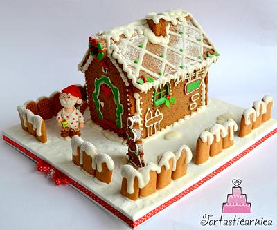 My first gingerbread house :) - Cake by Nataša