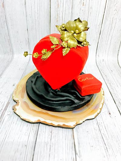 Du coeur- from the heart!  - Cake by anushree