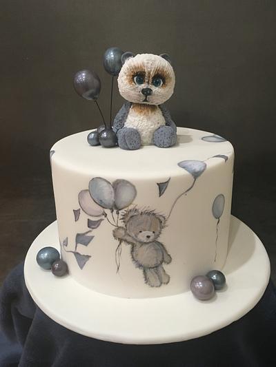 Handpainted Bear Cake - Cake by  Sue Deeble