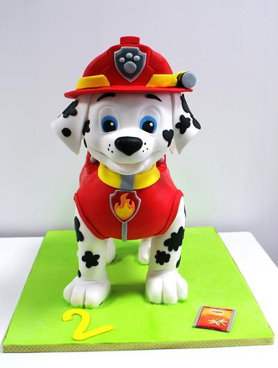 Cake 3D Marshall Paw Patrol - Cake by Dagmara