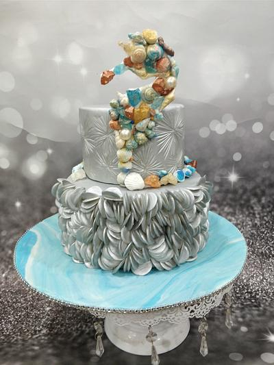 Caker buddies collaboration cakesBliss by the ocean - Cake by Manncakes13