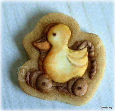 Vintage pull-along ducky cookie - Cake by Sweet Dreams by Heba