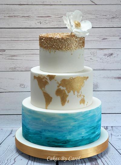 Travel Wedding Theme - Cake by Carol