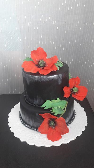 Poppies cake  - Cake by Svilena Balevska