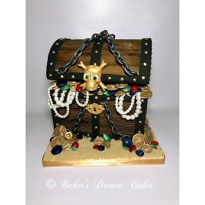 #sugarpirates chest - Cake by BakersDreamCakes
